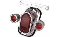 Black Friday Sale - J&P Cycles LED Tombstone Taillight with Red Turn Signals