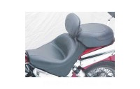 Black Friday Sale - Mustang 2-piece Wide Vintage Touring Seat with Driver Backrest - 79327