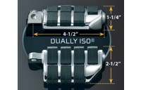 Black Friday Sale - Kuryakyn Dually ISO Pegs with Offset and1-1/4″ Magnum Quick Clamps - 7993
