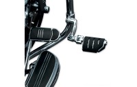Black Friday Sale - Kuryakyn Chrome Longhorn Trident Dually Pegs with 1-1/4″ Magnum Quick Clamps - 7555