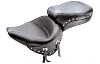 Black Friday Sale - Mustang One-Piece Wide Studded Touring Seat - 75072