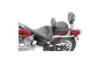 Black Friday Sale - Mustang Wide Studded Solo Seat with Backrest - 79485