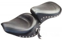 Black Friday Sale - Mustang One-Piece Wide Studded Touring Seat - 75511