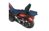 Black Friday Sale - BDD Custom Black Slot Sissy Bar w/Luggage Rack & Backrest for 2-Up Seat - 101-055-502