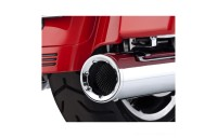 Black Friday Sale - Vance & Hines Hi Output Slip Ons Chrome with Chrome End Caps - 16455