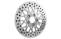 "Black Friday Sale - Biker's Choice 11.5"" Rear Mesh Style Polished Rotor - M-RT-2162"