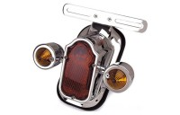 Black Friday Sale - J&P Cycles Tombstone Taillight with Amber Turn Signals
