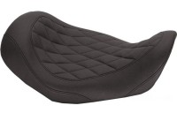 Black Friday Sale - Mustang Black Wide Tripper Solo Seat with Diamond Stitching - 76704