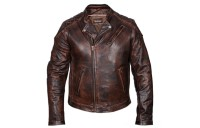 Black Friday Sale - Vance Leathers Men's Classic Lightweight Vintage Brown Leather Jacket - HMM521VB-XL