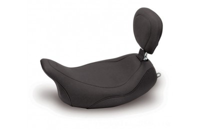 Black Friday Sale - Mustang Black Wide Tripper Solo Seat with Backrest - 79719