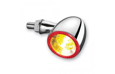 Black Friday Sale - Kuryakyn by Kellermann Chrome Bullet 1000 Red/Red/Amber Turn Signal - 2554