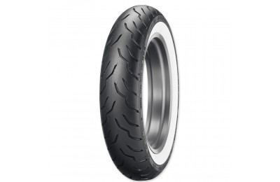 Black Friday Sale - Dunlop American Elite 130/90B16 67H Wide Whitewall Front Tire - 45131520