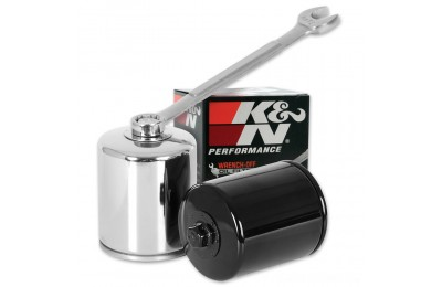Black Friday Sale - K&N High Performance Chrome Wrench-Off Oil Filter - KN-171C