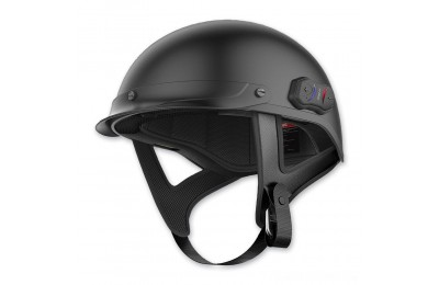Black Friday Sale - Sena Technologies Cavalry Bluetooth Matte Black Half Helmet - CAVALRY-CL-MB-S
