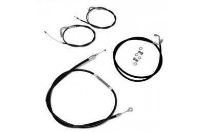 Black Friday Sale - LA Choppers Black Cable/Brake Line Kit for 12″-14″ Bars - LA-8100KT-13B