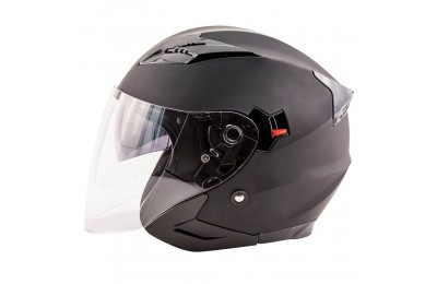 Black Friday Sale - Zox Journey Matte Black Open Face Helmet - 88-33643