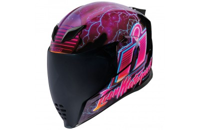 Black Friday Sale - ICON Airflight Synthwave Full Face Helmet - 0101-12088