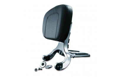 Black Friday Sale - Kuryakyn Chrome Multipurpose Driver and Passenger Backrest - 1660