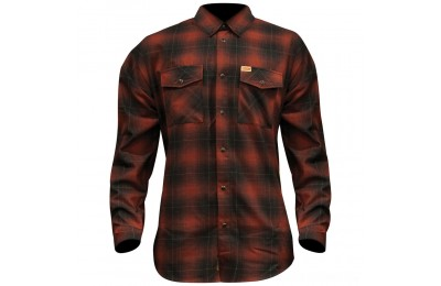 Black Friday Sale - Dixxon J&P Cycles Men's The Brickhouse Flannel - JPRED-MENS-LG
