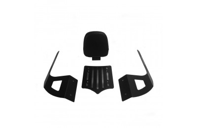 Black Friday Sale - BDD Custom Black Slot Sissy Bar w/Luggage Rack & Backrest for 2-Up Seats - 101-032-502
