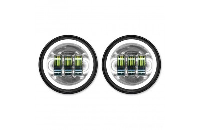 "Black Friday Sale - HogWorkz LED 4.5"" Chrome HaloMaker Auxiliary Passing Lights - HW195205"