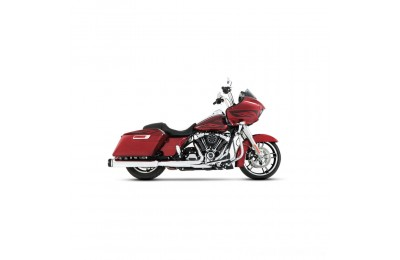 "Black Friday Sale - Rinehart Racing MotoPro 45 4.5"" Slip-On Mufflers Chrome with Black End Cap - 500-0108"
