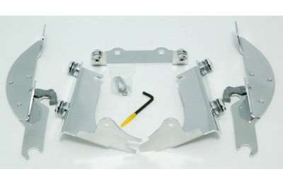 Black Friday Sale - Memphis Shades Batwing Fairing Polished Trigger Lock Mount Kit - MEK1940