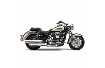 "Black Friday Sale - Cobra 4"" Slip On Mufflers Chrome with Scalloped Tips - 4225"