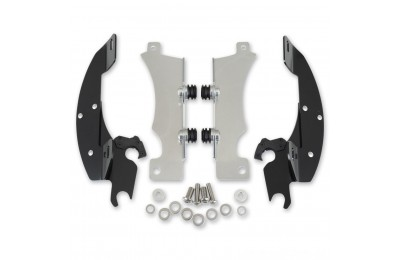 Black Friday Sale - Memphis Shades Batwing Fairing Black Trigger Lock Mount Kit - MEK1916