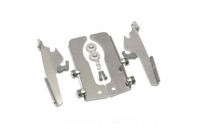 Black Friday Sale - Memphis Shades Fats/Slims/Batwing Fairing Polished Trigger Lock Mount Kit - MEM8964