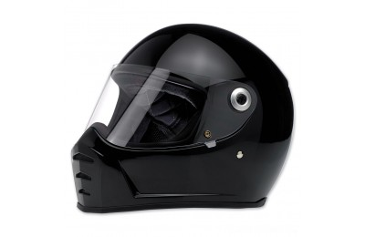 Black Friday Sale - Biltwell Inc. Lane Splitter Gloss Black Full Face Helmet - 1004-101-104