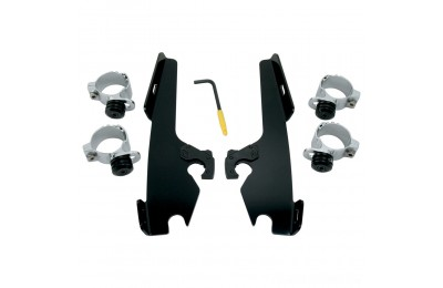 Black Friday Sale - Memphis Shades Fats/Slims/Batwing Fairing Black Trigger Lock Mount Kit - MEB8968