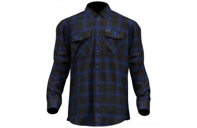 Black Friday Sale - Dixxon J&P Cycles Men's The Shiner Flannel - JPBLUE-MENS-LG