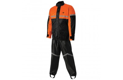 Black Friday Sale - Nelson-Rigg SR-6000 Stormrider Black/Orange Rain Suit - 21-1473