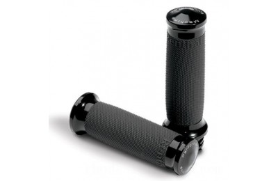 Black Friday Sale - Performance Machine Black Ano Contour Grips - 0063-2020-B