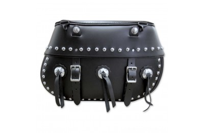 Black Friday Sale - Leatherworks, Inc. Classic Studded Saddlebags - 110BOSC