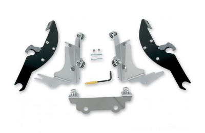 Black Friday Sale - Memphis Shades Batwing Fairing Black Trigger Lock Mount Kit - MEK1924
