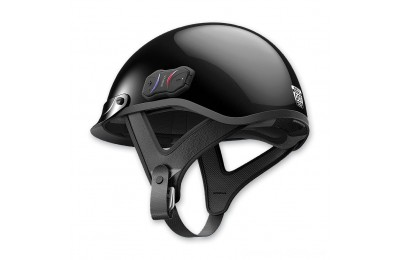 Black Friday Sale - Sena Technologies Cavalry Bluetooth Gloss Black Half Helmet - CAVALRY-CL-GB-L