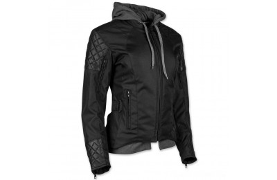 Black Friday Sale - Speed and Strength Women's Double Take Black Textile/Leather Jacket - 884303