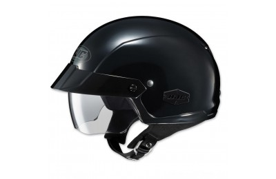 Black Friday Sale - HJC IS-Cruiser Solid Black Half Helmet - 0824-0105-06
