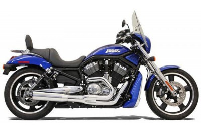 Black Friday Sale - Bassani Road Rage II B1 Series 2-into-1 Chrome Exhaust System - 1V18R