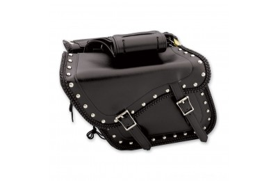 Black Friday Sale - Dream Apparel Saddlebag & Accessory Studded Throwover Zip-Off Saddlebags - SD4065