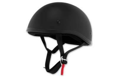 Black Friday Sale - Skid Lid Original Flat Black Half Helmet - 646633