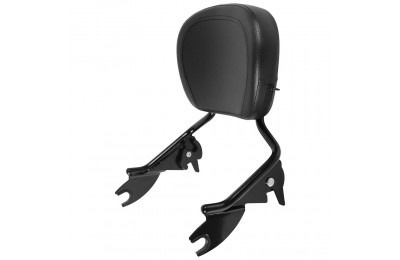 Black Friday Sale - HogWorkz Black Shorty Detachable Sissy Bar Backrest - HW157123