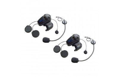 Black Friday Sale - Sena Technologies SMH10 MC Bluetooth Headset/Intercom with Universal Mic Kit Dual Pack - SMH10D-11