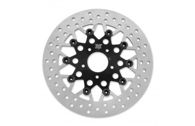 Black Friday Sale - Twin Power Front Black Floating Mesh Style Brake Rotor - 1441TB