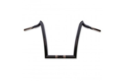 "Black Friday Sale - KST Kustoms 1-1/4"" High Gloss Black 12"" Renegade Handlebar - 6116012HG"