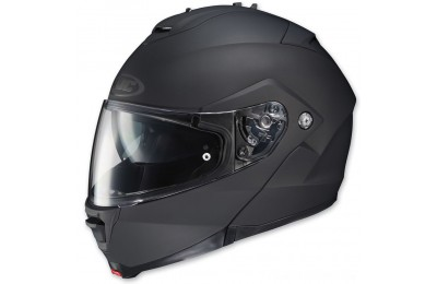Black Friday Sale - HJC IS-MAX II Matte Black Modular Helmet - 980-614