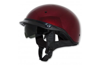 Black Friday Sale - Zox Roadster DDV Candy Red Half Helmet - Z88-00484