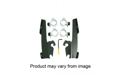 Black Friday Sale - Memphis Shades Fats/Slims/Batwing Fairing Black Trigger Lock Mount Kit - MEB8967